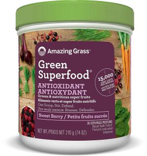 $15.59 (原价$32.99) 排毒养颜纤体减肥闪购:Amazing Grass 有机天然超浓缩蔬果粉 莓果味 210g