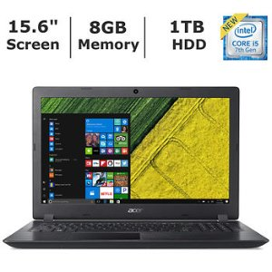 $349.99Acer Aspire 3 笔记本电脑 (i5-7200U, 8GB, 1TB)