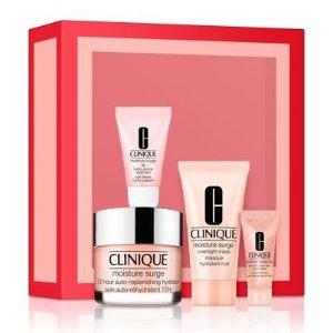 $75(价值$128)送3件套Clinique 水磁场护肤4件套 内含正装面霜