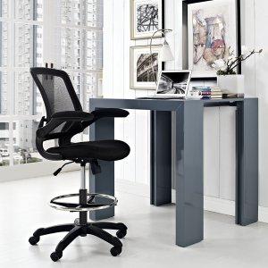 $179.99 (原价$258.49)限今天:LexMod 可旋转调节人体工学办公椅