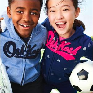 $9起 0-14岁码都有OshKosh BGosh 儿童实用卫衣卫裤优惠 四季百搭