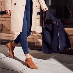 黑色 $96(官网$545) 大码福利Aquatalia Falco 切尔西女靴 意大利高级鞋履 手工制造