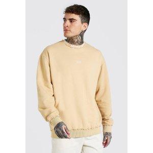 boohooMANOversized Original Man Neck Sweatshirt | boohooMAN