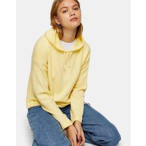 Topshop鹅黄色卫衣
