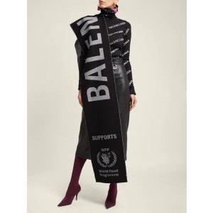 低至3折+额外8折 £197收巴黎世家Logo围巾断货款:Balenciaga 围巾现货 超强折扣速度下单