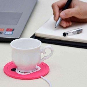 USB便携水杯加热垫热卖 一个月总有那么几天要多喝热水