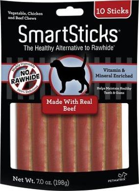 SmartBones SmartSticks Beef Chews Dog Treats, 10 count - Chewy.com