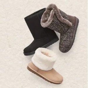 买1送2JCPenny 精选儿童雪地靴、冬靴、女童长靴等促销