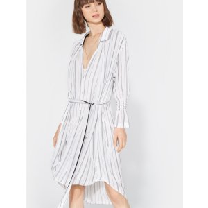 HalstonSmocked Cuff Shirtdress