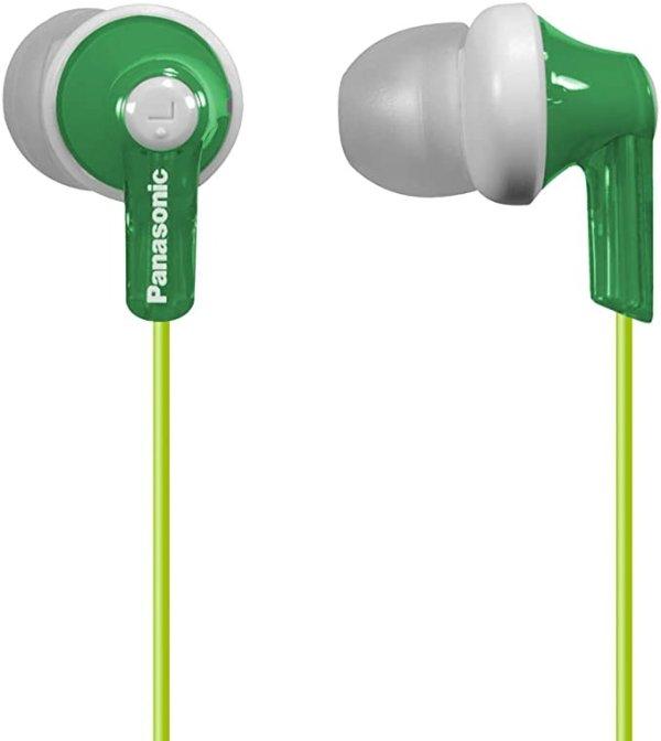 ErgoFit In-Ear Earbud Headphones RP-HJE120-G (Green) Dynamic Crystal Clear Sound, Ergonomic Comfort-Fit