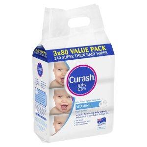 Curash宝宝湿巾 3x80抽