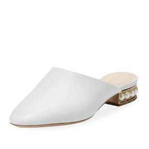 低至6折 收经典尖头乐福鞋、穆勒鞋Nicholas Kirkwood美鞋年中大促 入手珍珠跟