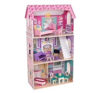 $55.99(原价$99.99)+包邮KidKraft 豪华娃娃屋 给宝宝们一栋属于自己的房屋