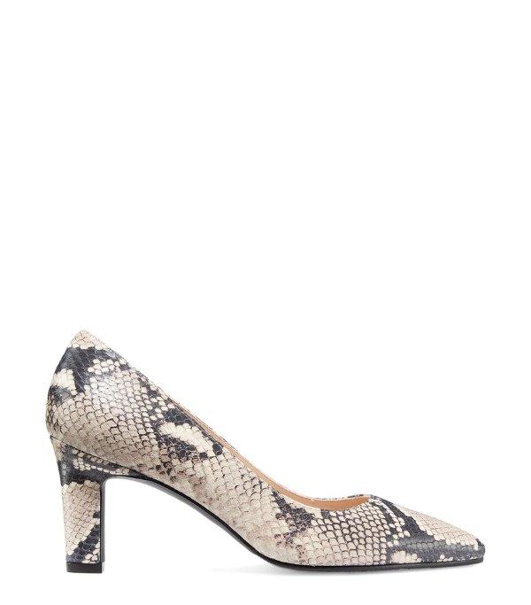 THE ADRIA 蛇纹高跟鞋
