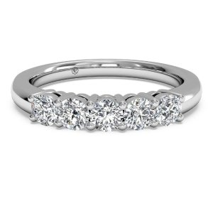 via exclusive coupon code 5SWRWomen's Five-stone Lab Diamond Wedding Ring