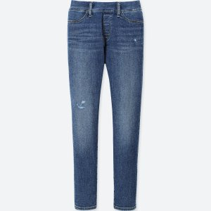 UniqloGIRLS ULTRA STRETCH DAMAGED DENIM SKINNY FIT PANTS