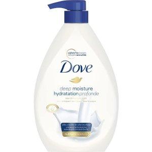 $9.47(原价$11.97)Dove 多芬滋润型沐浴露 1L 温和清洁 滋养肌肤 不含硫酸盐