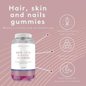 MyVitamins富含维生素和矿物质头发、皮肤、指甲护理软糖