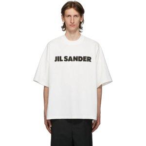 Jil Sander白色logoT恤 男款