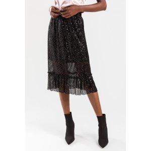 Francesca'sLanette Sequin Midi Skirt