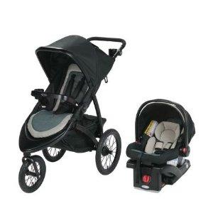 $175.49(原价$259.99)RoadMaster 慢跑童车+婴儿安全座椅旅行套装 四色可选