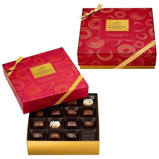 中国红节日款巧克力礼盒 2盒共30粒