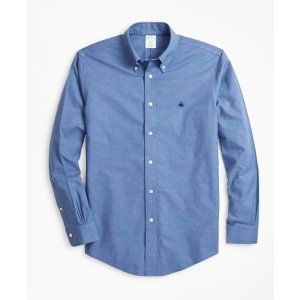 4 For $199Non-Iron Milano Fit Heathered Sport Shirt - Brooks Brothers