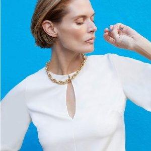 低至2.9折 女式衬衫$84Theory Outlets 春夏上衣特卖 纯棉Polo仅$41 (原价$140)