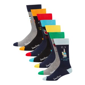 Neiman Marcus Men's 7-Pack Seasonal Puns Socks
