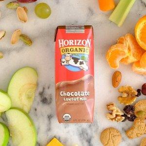 $8.98(原价$15.99)免邮Horizon Organic 巧克力低脂有机奶 8oz 12盒