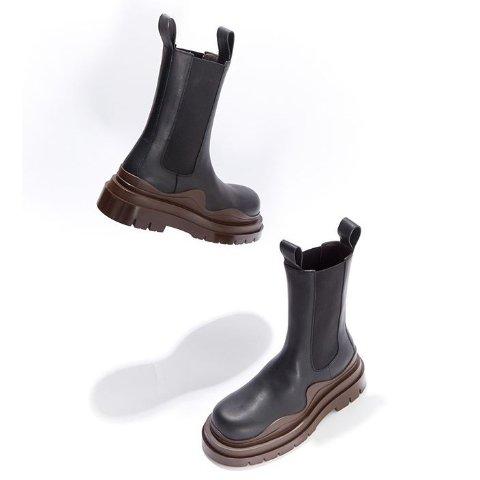 一律8.5折 触底价$750Bottega Veneta 爆款厚底靴专场 樱花粉、薄荷黄等色加入