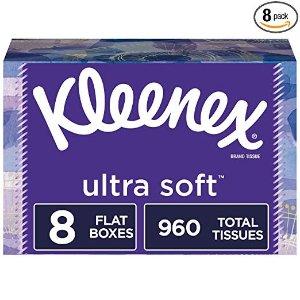 Kleenex超柔软纸巾8盒共960张