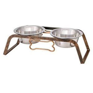 Loving Pets Black Label Collection Rustic Bone Diner for Dogs