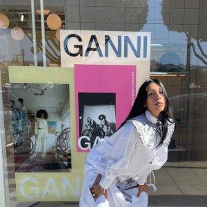 3折起!£87连衣裙Ganni 夏促大量上新 丹麦宝藏品牌 惊爆价收连衣裙、娃娃领