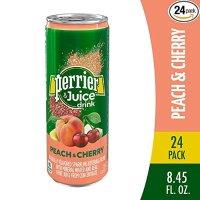 Perrier 桃子樱桃口味气泡矿泉水 250ml 24罐