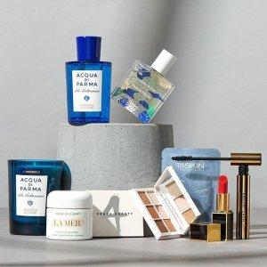 最高减$200+多重美妆好礼12周年独家:Saks Fifth Avenue 护肤美妆 收祖马龙套装、La Mer