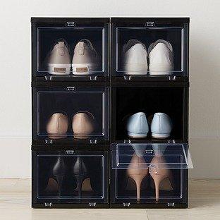 黑色鞋盒6件装 小号 前盖可掀开