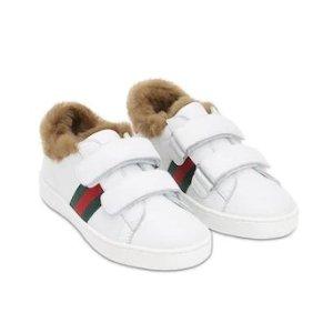 黑色款最大37 £210起收Gucci小白鞋Gucci 惊现大童款小白鞋热卖  码数全 手慢无码