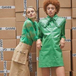 低至3折 £53收泡泡袖上衣Ganni 法风美衣春季大促 又酷又嗲出乎意外地撩人