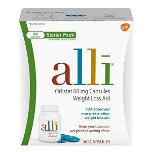 $37.91alli Diet Weight Loss Supplement Pills Starter Pack, 60 Count