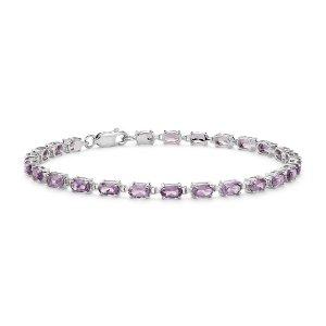 Blue Nile925纯银紫水晶手链