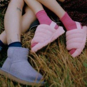粉色毛绒鞋$125UGG UO独家 多款雪地靴 好看到飞起 香芋紫仙气儿十足