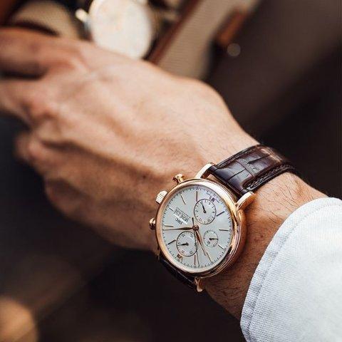 Extra $100 OffDealmoon Exclusive: IWC Portofino Chronograph Automatic Silver Dial Men's Watch