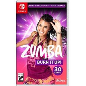 $39.99 开放预售《Zumba: Burn It Up!》Switch 实体版 舞蹈瘦身游戏