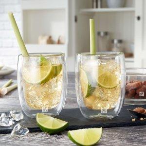 Zwilling可用于微波炉双壁玻璃杯 2件
