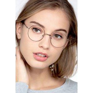 EyeBuyDirectSynapse - Round Rose Gold Frame Eyeglasses | EyeBuyDirect