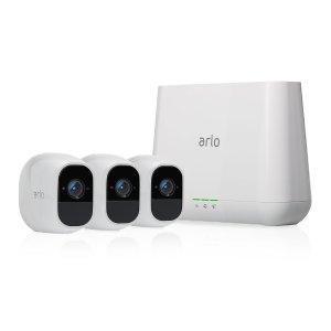 低至4.4折, 3摄+中控套装$299.99Amazon Netgear Arlo 智能安防系统大促销