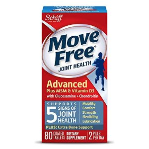 $15.19Move Free Advanced Glucosamine Chondroitin MSM Vitamin D3 and Hyaluronic Acid Joint Supplement, 80 Count