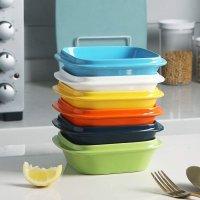 SWEEJAR 彩色方形陶瓷烤碗 10oz 6个