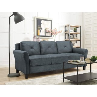 $206.99史低价:LifeStyle Solutions 3座布艺沙发